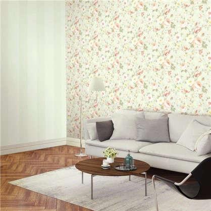 Обои Inspire Flower виниловые на флизелиновой основе цвет светло-серый 1.06x10 м