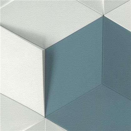 Обои Кубы виниловые на флизелиновой основе цвет синий 0.53х10 м