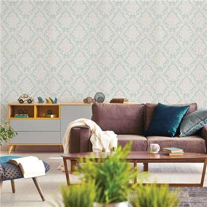 Обои на бумажной основе EcoStyle Марселла 6 53x10.05 м цвет бирюзовый