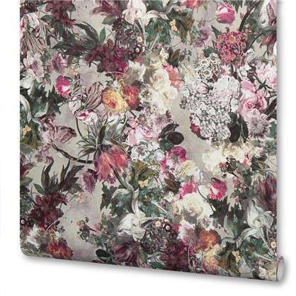 Обои на флизелиновой основе 0.53х10 м цветы цвет сиреневый Ra 605631