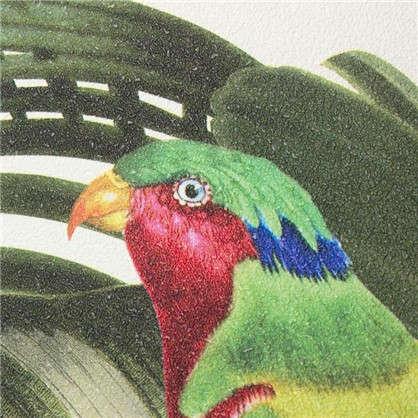 Обои на флизелиновой основе 0.53х10 м попугай цвет зеленый Ra 439533
