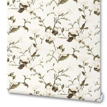Обои на флизелиновой основе Цветы 1.06х10 м цвет белый Им 159000-20