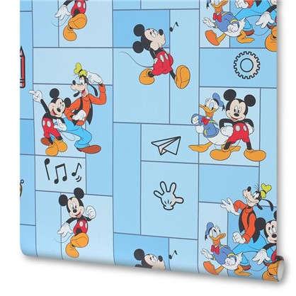 Обои на флизелиновой основе Disney Микки Маус 1.06x10 м цвет голубой
