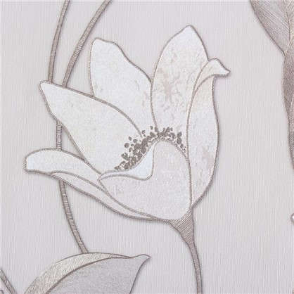 Обои на флизелиновой основе Malex Desing Лотос 1.06x10.05 м цвет бежевый