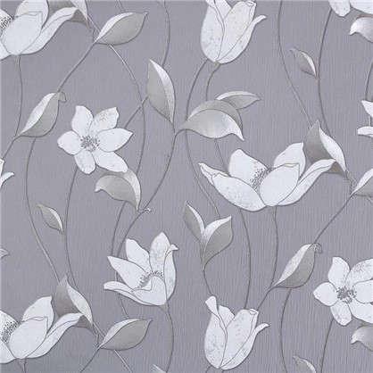 Обои на флизелиновой основе Malex Desing Лотос 1.06x10.05 м цвет серый/бежевый