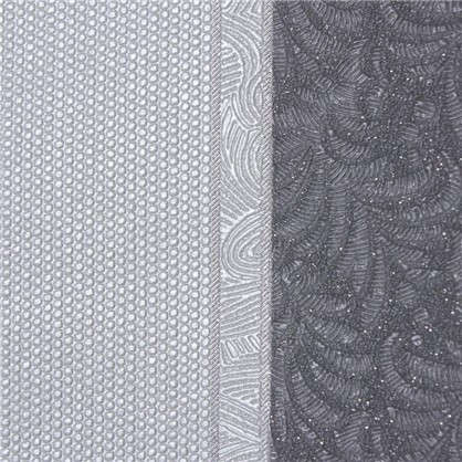Обои на флизелиновой основе Malex Desing Вышивка полотно 1.06x10.05 м цвет графит