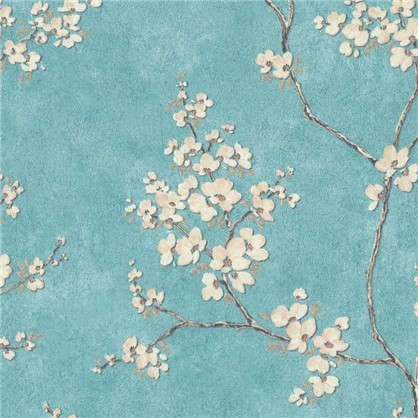 Обои на флизелиновой основе Сакура 1.06х10.05 м цвет синий 6