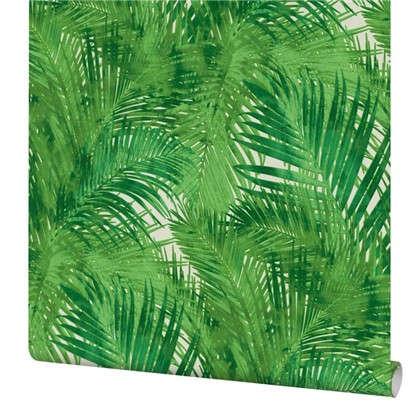 Обои Пальма на флизелиновой основе цвет зеленый 0.53х10.05 м