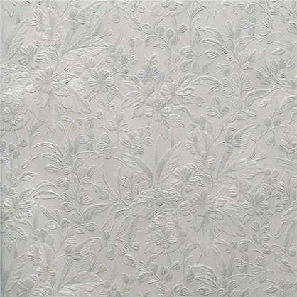 Обои Патриция на бумажной основе цвет белый 0.53х10 м