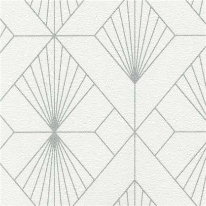 Обои Ромбы виниловые на флизелиновой основе цвет серый 0.53х10 м