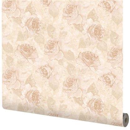 Обои Роза АС70105-220 флизелиновые цвет бежевый 0.53х10 м