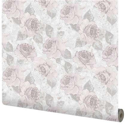 Обои Роза АС70105-560 флизелиновые цвет сиреневый 0.53х10 м