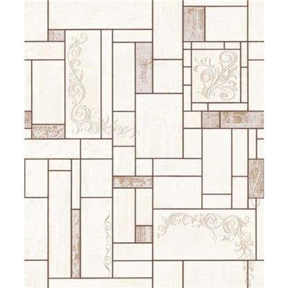 Обои виниловые 0.53х10 м геометрия цвет коричневый Па 510-22