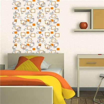 Обои виниловые 0.53х10 м геометрия цвет оранжевый Эл 96902