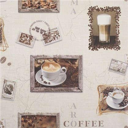 Обои виниловые 0.53х10 м кофе цвет бежевый Ra 855111