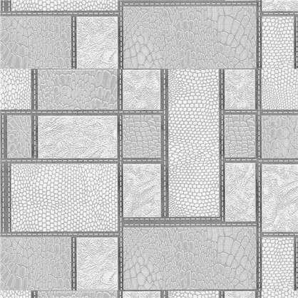 Обои виниловые 0.53х10 м квадраты цвет серый 0628/5