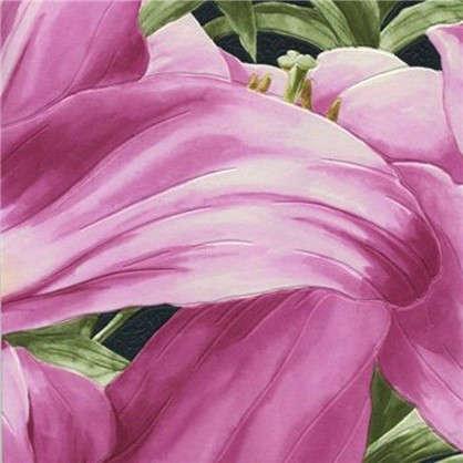 Обои виниловые 0.53х10 м лилии цвет розовый Ra 824315