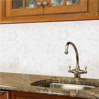 Обои виниловые 0.53х10 м плитка цвет белый ER 1365-6
