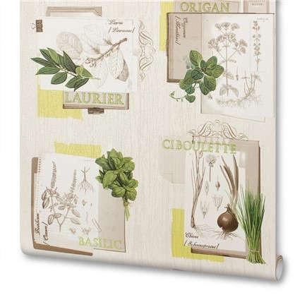 Обои виниловые Травы 0.53х10 м цвет зеленый Ra 307405