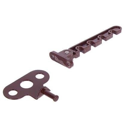 Купить Ограничитель оконный для ПВХ окна 105 мм ABC/сталь цвет коричневый дешевле