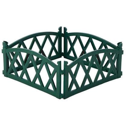 Купить Ограждение садовое декоративное Арка цвет зелёный дешевле