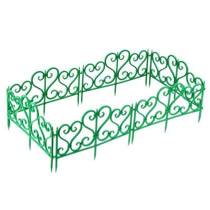 Ограждение садовое декоративное Ажурное цвет зелёный