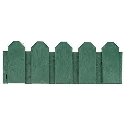 Купить Ограждение садовое декоративное Дачник 3 м цвет зелёный дешевле