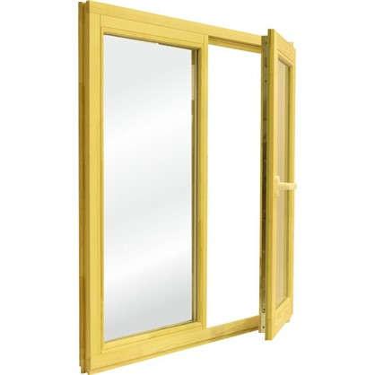 Окно деревянное 100х100 см глухое/поворотное однокамерный стеклопакет