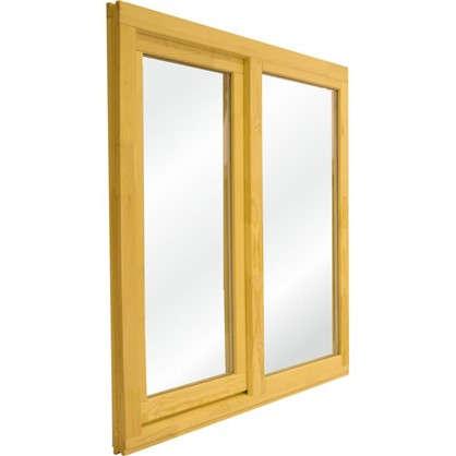 Купить Окно деревянное 100х100 см глухое/поворотное однокамерный стеклопакет дешевле