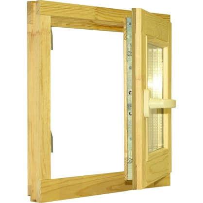 Окно деревянное 46х47 см однокамерный стеклопакет
