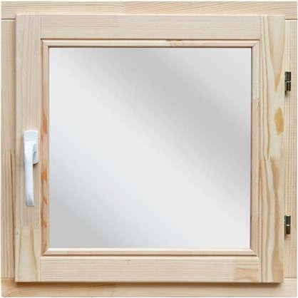 Окно деревянное 58x58 см однокамерный стеклопакет