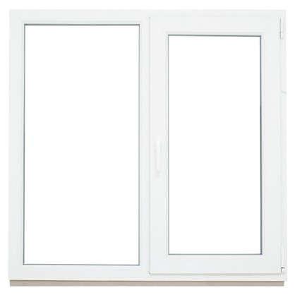 Окно ПВХ двустворчатое 116х120 см глухое/поворотное правое