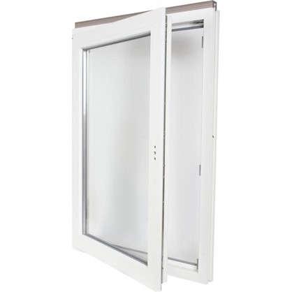 Окно ПВХ одностворчатое 116х80 см поворотно-откидное правое