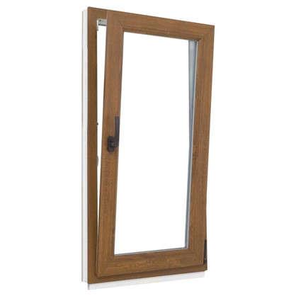 Купить Окно ПВХ одностворчатое 120х80 см поворотно-откидное правое цвет золотой дуб дешевле