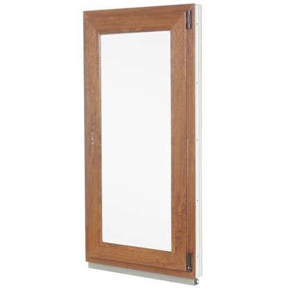 Окно ПВХ одностворчатое 120x60 см поворотно-откидное правое цвет золотой