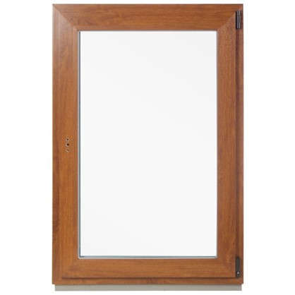 Окно ПВХ одностворчатое 120x80 см поворотно-откидное правое цвет золотой