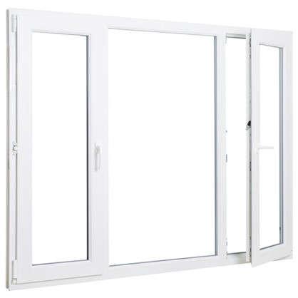 Купить Окно ПВХ трёхстворчатое 144х175 см поворотное левое/глухое/поротно-откидное правое дешевле