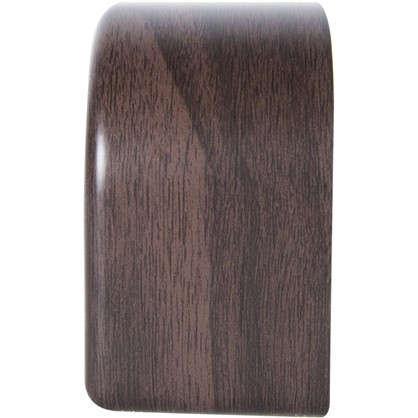 Опора для мебели 85х85х50 мм цвет темное дерево