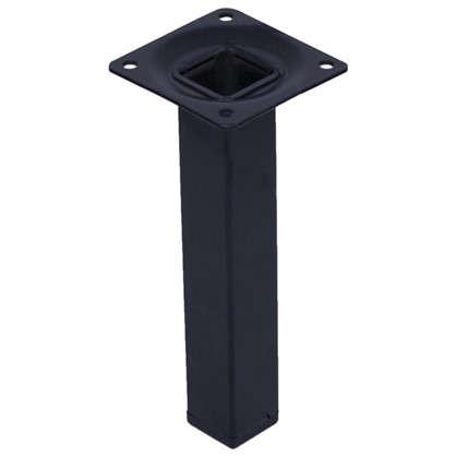 Опора квадратная 25х25х100 мм цвет черный