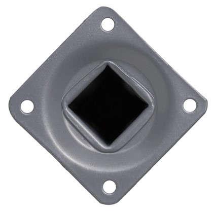 Опора квадратная 25х25х100 мм цвет серый