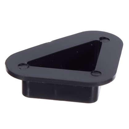 Опора угловая пластик цвет черный 4 шт.
