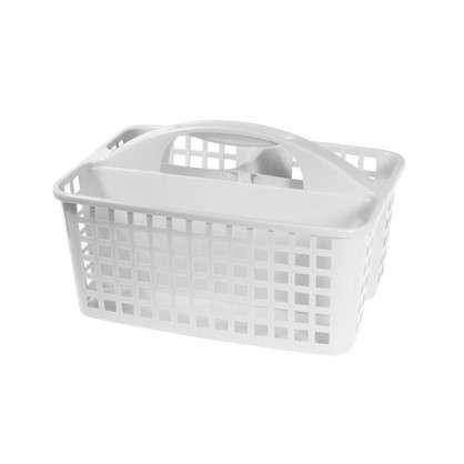 Купить Органайзер-переноска 230х185х310 мм пластик цвет белый дешевле