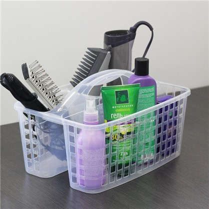 Органайзер-переноска для ванной 23х18.5х31 см цвет прозрачный