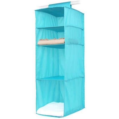 Органайзер подвесной Spaceo 4 полки 30х40х90 см цвет голубой