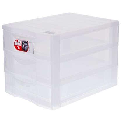 Органайзер Sundis А4 3 выдвижных ящика пластик цвет прозрачный
