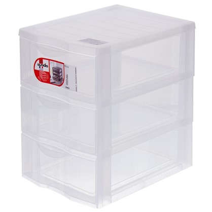 Органайзер Sundis А5 3 выдвижных ящика пластик цвет прозрачный