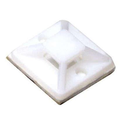 Основание для хомута Экопласт 28х28 мм цвет белый 100 шт.