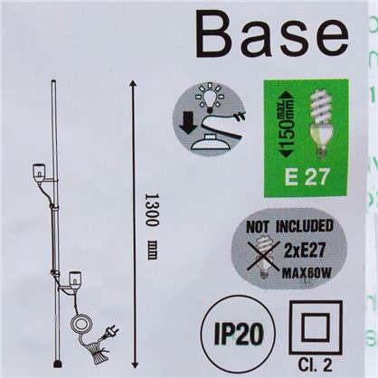 Купить Основание для торшера 2х60 Вт 130 см для абажуров Anjo дешевле