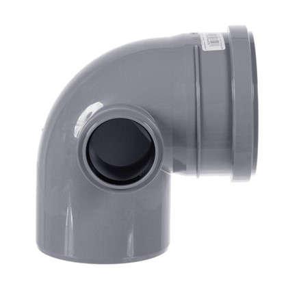 Отвод Политэк левый d 110 мм L 1850 мм полипропилен