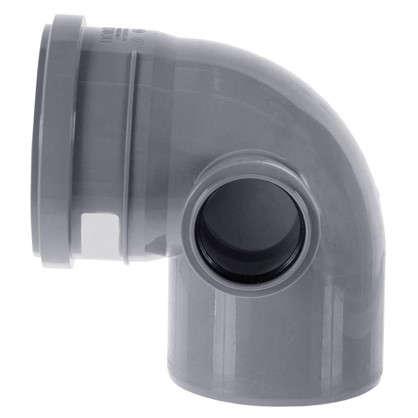 Отвод Политэк правый d 110 мм L 185 мм полипропилен